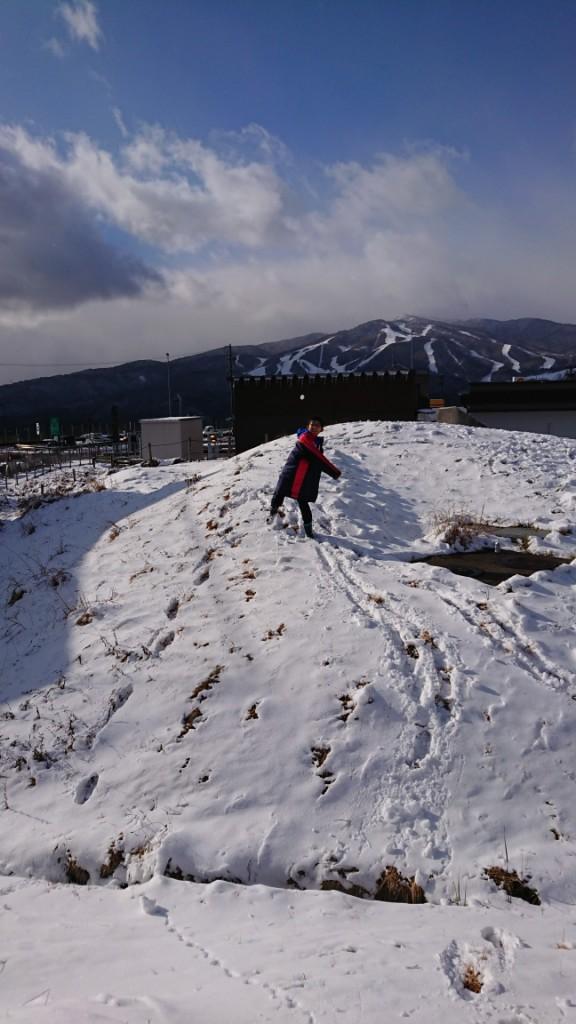 スキー場帰り